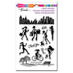 Stampendous - Clear Acrylic Stamps - Sassy City