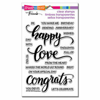 Stampendous - Clear Acrylic Stamps - Big Words Happy