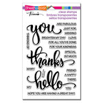 Stampendous - Clear Acrylic Stamps - Big Words Thanks