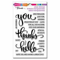 Stampendous - Clear Photopolymer Stamps - Big Words Thanks