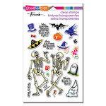 Stampendous - Halloween - Clear Acrylic Stamps - Skeleton Humor