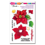 Stampendous - Christmas - Clear Acrylic Stamps - Poinsettia Parts