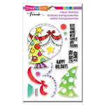 Stampendous - Christmas - Clear Acrylic Stamps - Deck Your Home