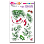 Stampendous - Christmas - Clear Acrylic Stamps - Christmas Greenery