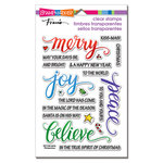 Stampendous - Christmas - Clear Acrylic Stamps - Merry Words