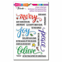 Stampendous - Christmas - Clear Photopolymer Stamps - Merry Words