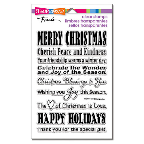 Stampendous - Christmas - Clear Photopolymer Stamps - Holiday Wishes