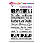 Stampendous - Christmas - Clear Acrylic Stamps - Holiday Wishes