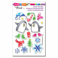 Stampendous - Christmas - Clear Photopolymer Stamps - Skating Penguins