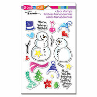 Stampendous - Christmas - Clear Photopolymer Stamps - Snowmen Accessories