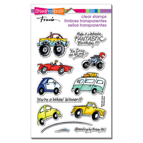 Stampendous - Clear Photopolymer Stamps - Wheels