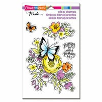 Stampendous - Clear Acrylic Stamps - Flutters and Flowers