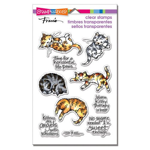 Stampendous - Clear Photopolymer Stamps - Kitty Therapy