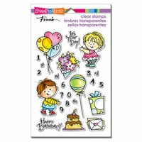 Stampendous - Clear Photopolymer Stamps - Birthday Kids