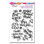 Stampendous - Clear Acrylic Stamps - Script Sayings
