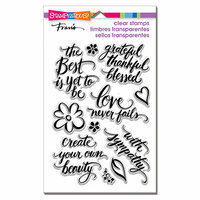 Stampendous - Clear Photopolymer Stamps - Script Sayings