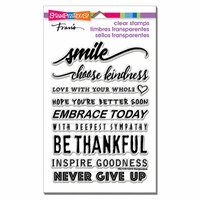 Stampendous - Clear Photopolymer Stamps - Smile Sentiments