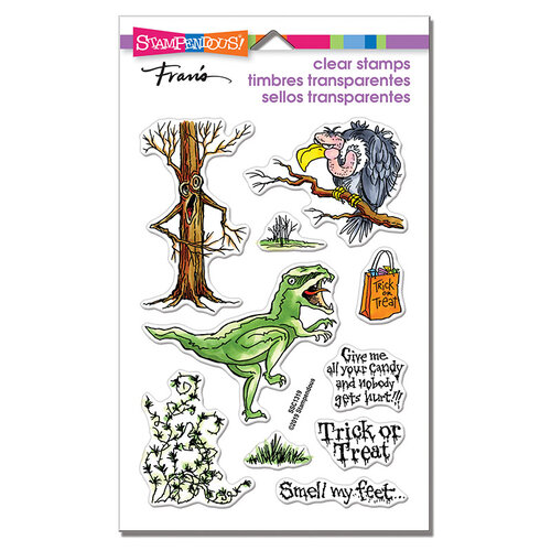 Stampendous - Halloween - Clear Photopolymer Stamps - Creature Tricks
