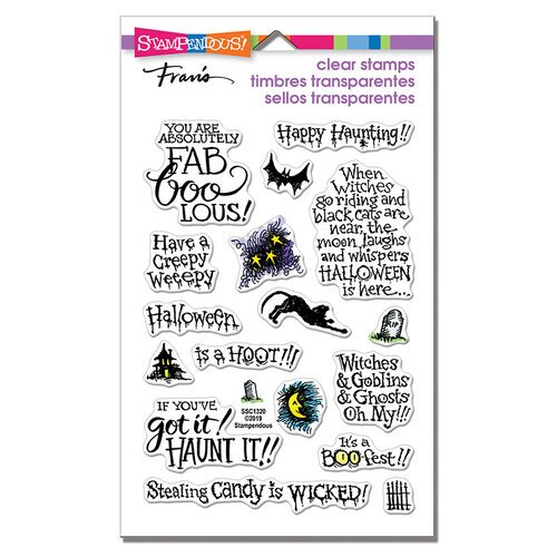 Stampendous - Halloween - Clear Photopolymer Stamps - Faboolous