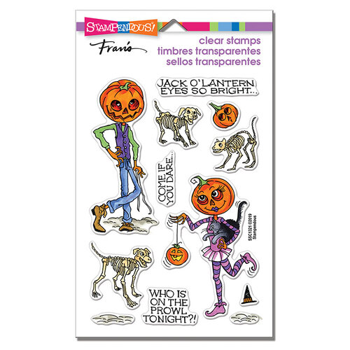 Stampendous - Halloween - Clear Photopolymer Stamps - Pumpkin People