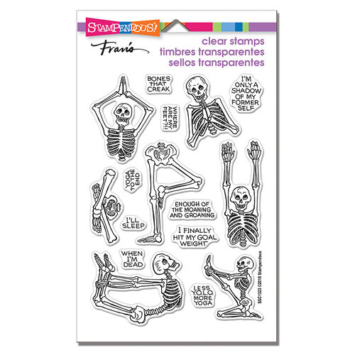 Stampendous - Halloween - Clear Photopolymer Stamps - Skeleton Yoga