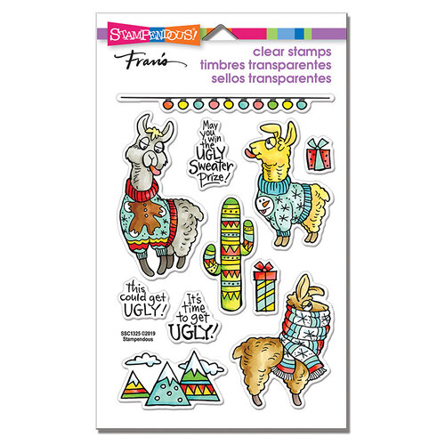 Stampendous - Christmas - Clear Photopolymer Stamps - Llama Sweaters
