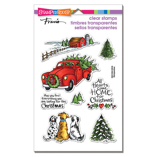 Stampendous - Clear Photopolymer Stamps - Christmas Farm