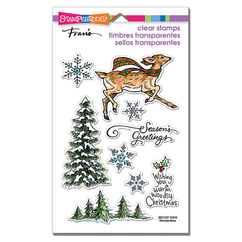 Stampendous - Christmas - Clear Photopolymer Stamps - Woodland Deer