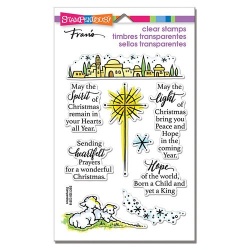 Stampendous - Christmas - Clear Photopolymer Stamps - Light and Hope