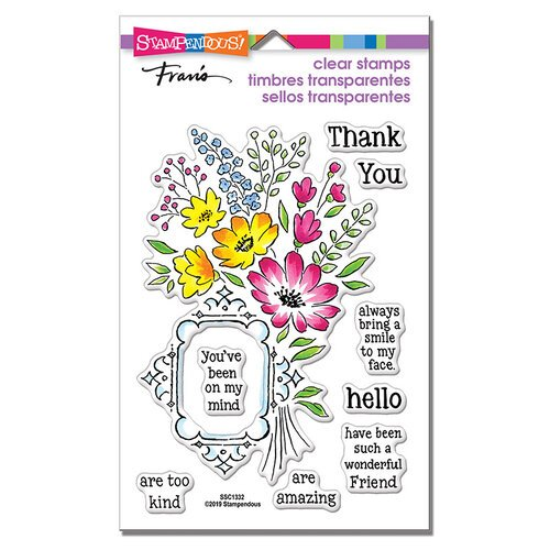 Stampendous - Clear Photopolymer Stamps - Floral Frame