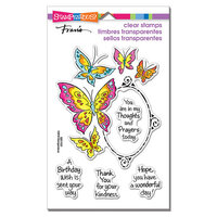 Stampendous - Clear Photopolymer Stamps - Butterfly Frame