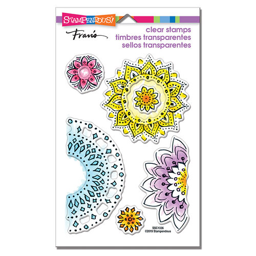 Stampendous - Clear Photopolymer Stamps - Floral Circles