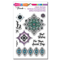 Stampendous - Clear Photopolymer Stamps - Floral Diamonds