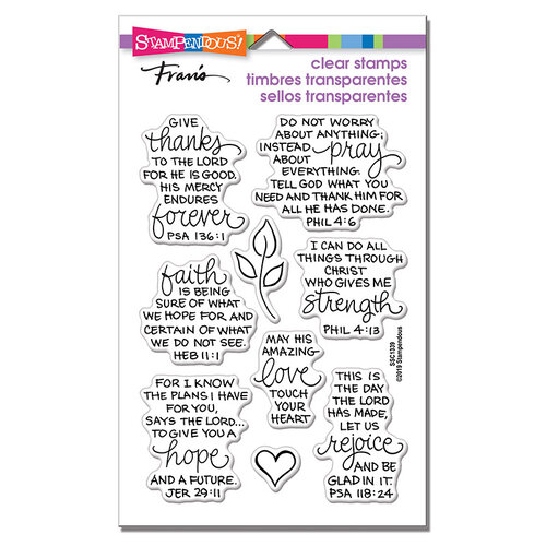 Stampendous - Clear Photopolymer Stamps - Bible Verses