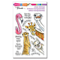 Stampendous - Clear Photopolymer Stamps - Peeking Pals