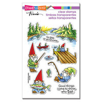 Stampendous - Clear Photopolymer Stamps - Gnome Fishing