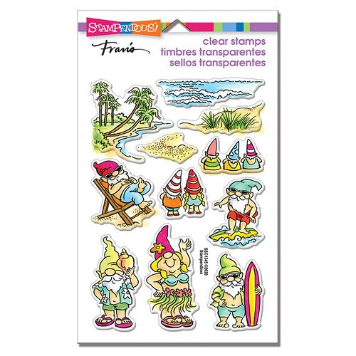 Stampendous - Clear Photopolymer Stamps - Gnome Beach