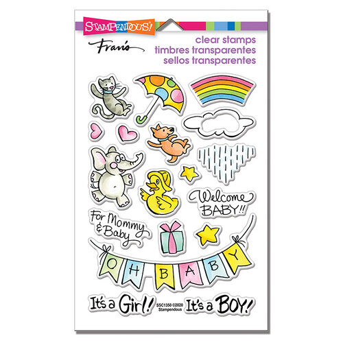Stampendous - Clear Photopolymer Stamps - Baby Gift