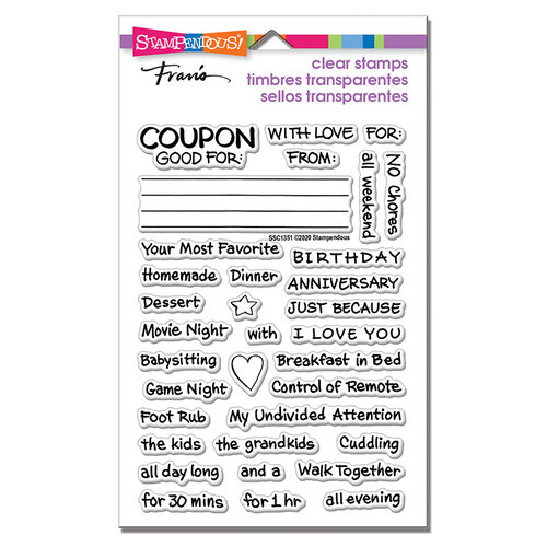 Stampendous - Clear Photopolymer Stamps - Coupons Gift