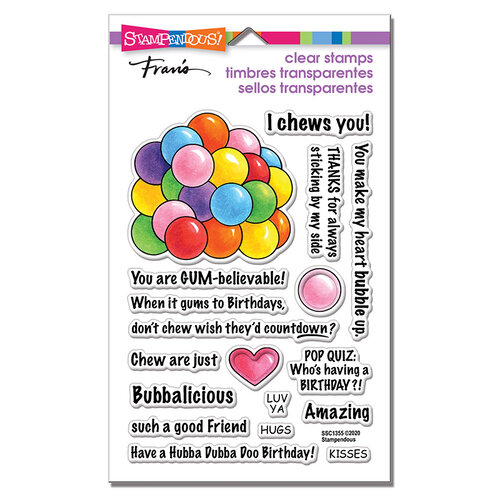 Stampendous - Clear Photopolymer Stamps - Gumball Greetings