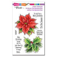 Stampendous - Christmas - Clear Photopolymer Stamps - Poinsettia Season