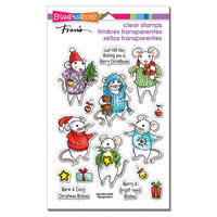 Stampendous - Christmas - Clear Photopolymer Stamps - Felt Mice