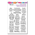 Stampendous - Clear Photopolymer Stamps - Courage Quotes