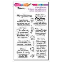 Stampendous - Clear Photopolymer Stamps - Blessed Christmas