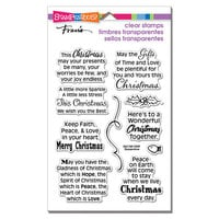 Stampendous - Christmas - Clear Photopolymer Stamps - Faith Peace Love