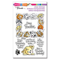 Stampendous - Clear Photopolymer Stamps - Puppy frame