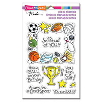 Stampendous - Clear Photopolymer Stamps - Sports Frame