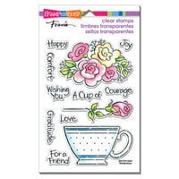 Stampendous - Clear Photopolymer Stamps - Pop Rose Teacup