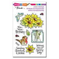Stampendous - Clear Photopolymer Stamps - Pop Sunflowers