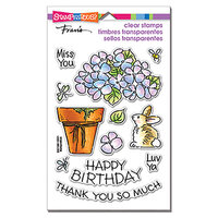 Stampendous - Clear Photopolymer Stamps - Pop Hydrangea